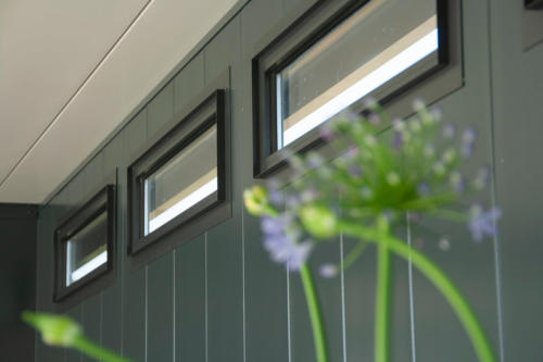 Details Tuinhuis met overkapping - Hermes Tuinhuis