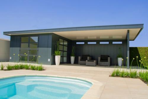 Poolhouse - Tuinhuis met overkapping - Hermes Tuinhuis - Stoop