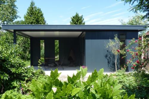 Tuinhuis met overkapping - Hermes Tuinhuis - Naber