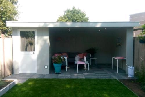 Tuinhuis met overkapping - Hermes Tuinhuis - Ros